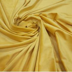 Veludo Plush Amarelo Mostarda