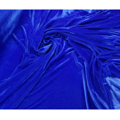 Veludo Spandex c/ Lycra Azul Royal