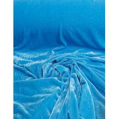 Veludo Spandex c/ Lycra Azul Turquesa