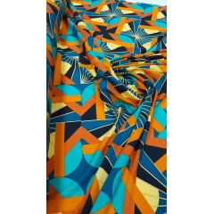 Popeline de Viscose Premium Abstract African