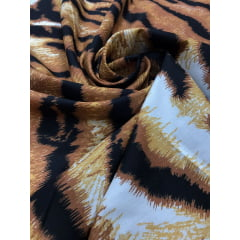 Viscose Animal Print Tigre
