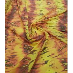 Voil de Viscose Tie Dye Amarelo com Laranja