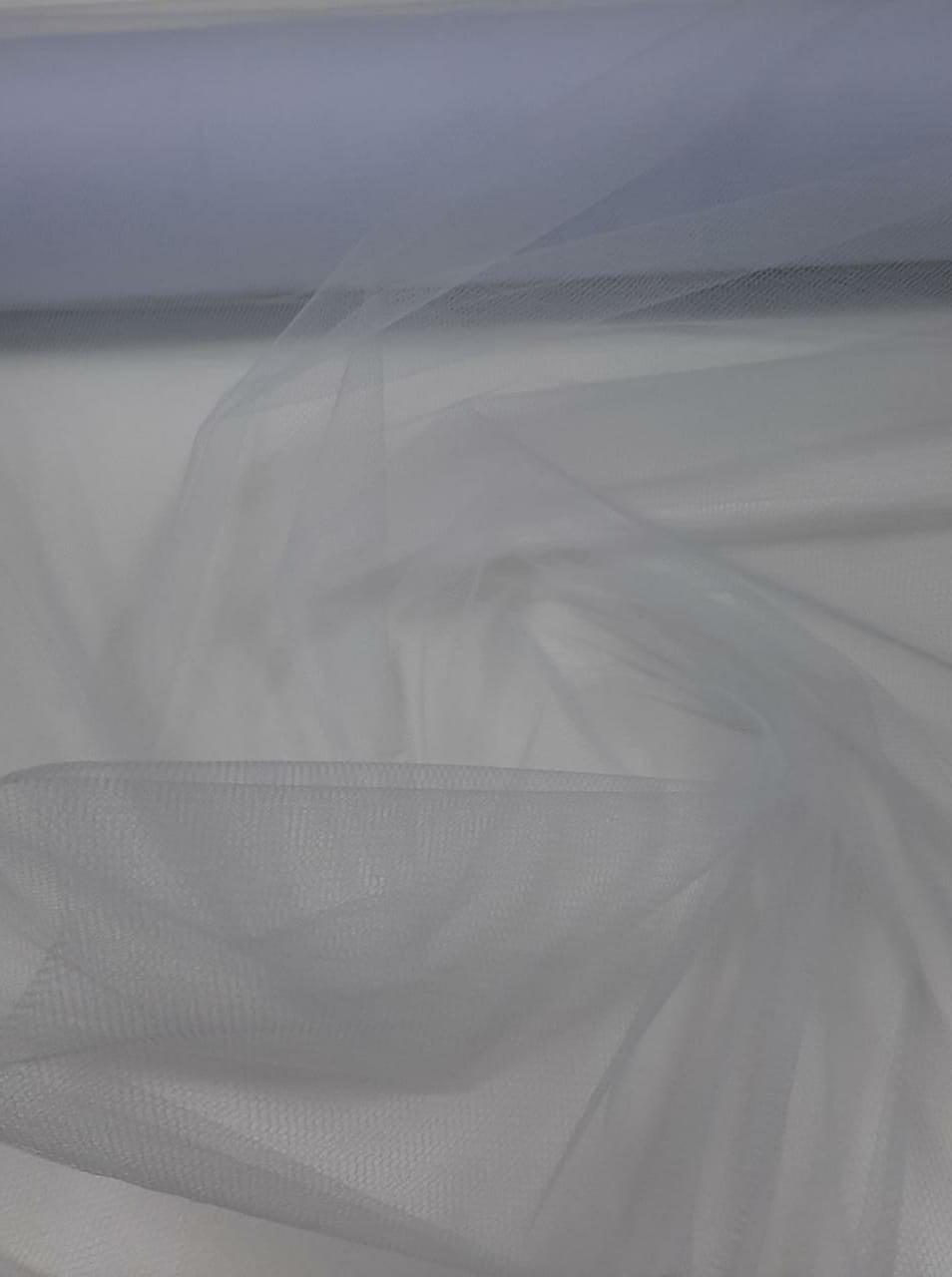 Tule Liso Decoração 1,20m Largura Branco