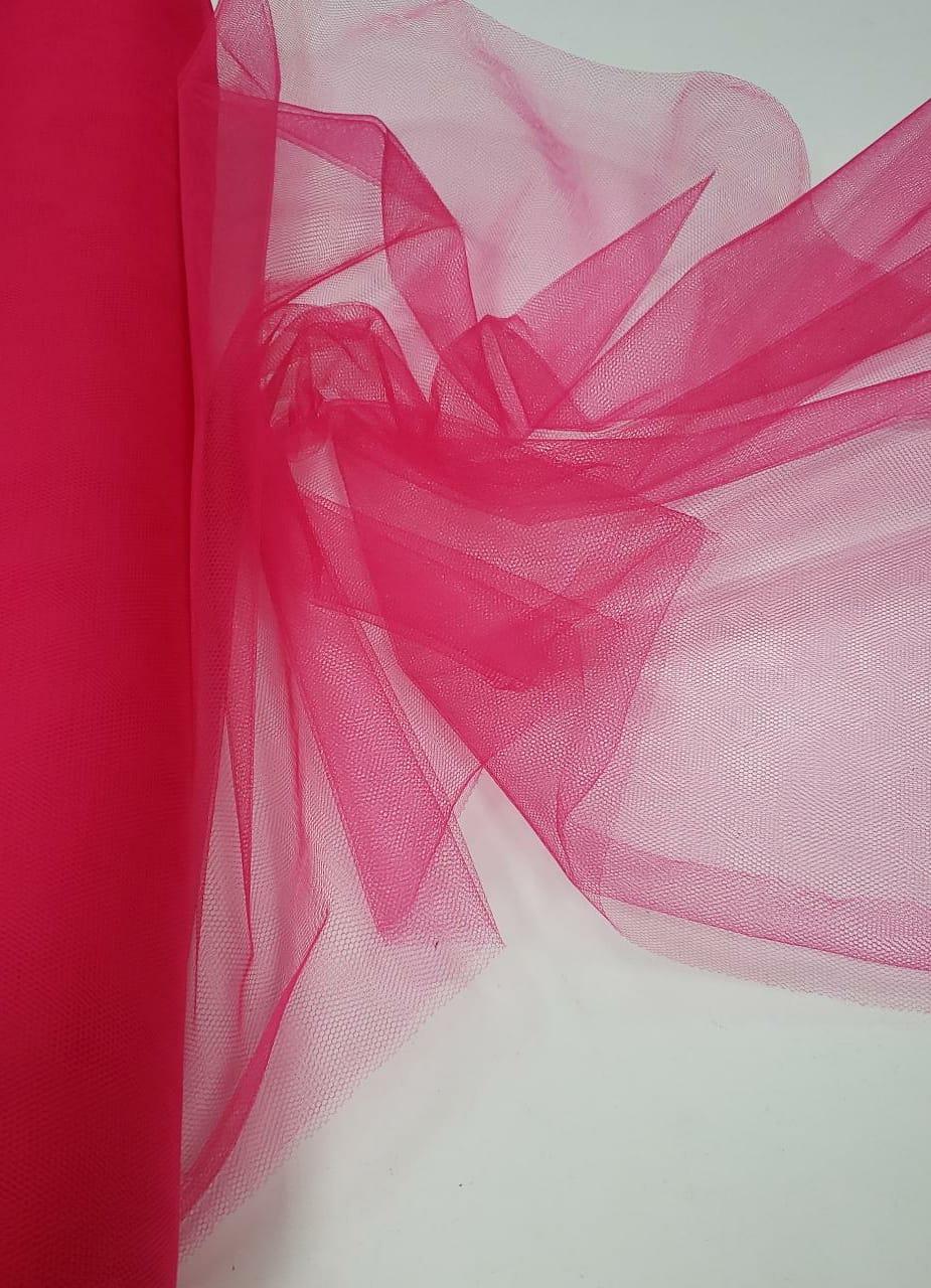 Tule Liso Decoração 1,20 Largura Pink