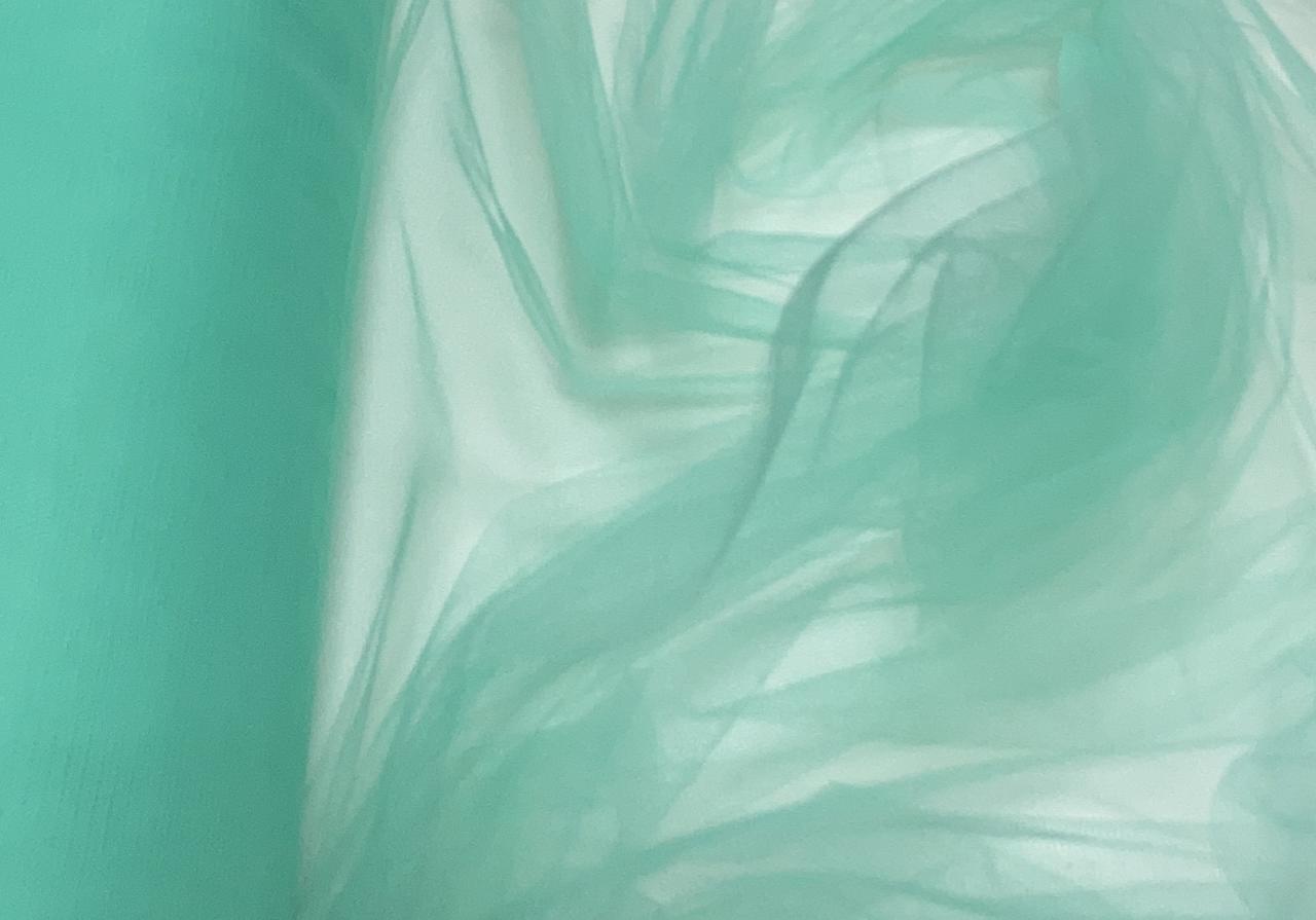 Tule Liso Decoração 1,20m Largura Verde Tiffany